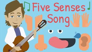 Five Senses Song - Kids Hearing Sight Touch Taste Smell Song