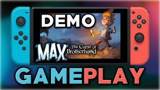 max the curse of brotherhood demo gameplay nintendo switch