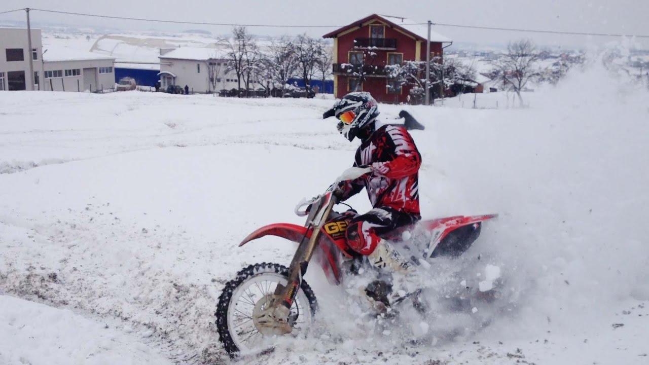 Snow Dirt Bike >> Snow Dirtbike Winter Riding Youtube