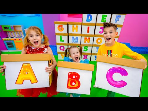 Five Kids Learn ABC Alphabet + more Children's Songs and Videos