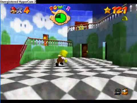 how to get invisible hat mario 64