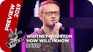 Whitney Houston - How Will I Know (David) | PREVIEW |  The Voice Kids 2019 | SAT.1