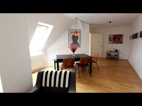 2-Room Top-Floor Apartment Scandinavian Vintage Style Furnishing, Rigaerstr,10846.