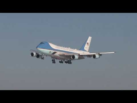 President Trump arrives at Pennsylvania Air National Guard
