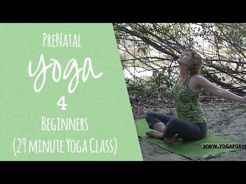 PreNatal Yoga for Beginners (29 minute Yoga Class)