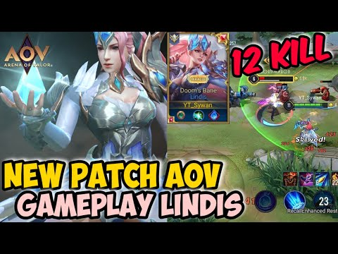 GAMEPLAY LINDIS NEW PATCH - ARENA OF VALOR | AoV | 傳說對決 | RoV | Liên Quân Mobile