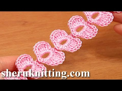 Crochet Cord Heart Elements Tutorial 62 Crochet Small Hearts Youtube