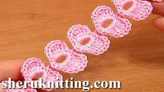 Repeat youtube video Crochet Cord Heart Elements Tutorial 62 Crochet Small Hearts