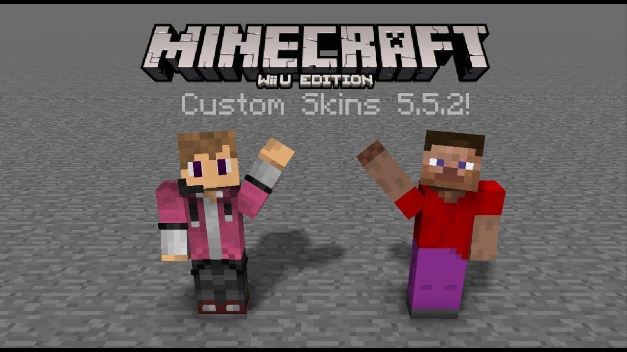 how to make custom skins in minecraft wii u