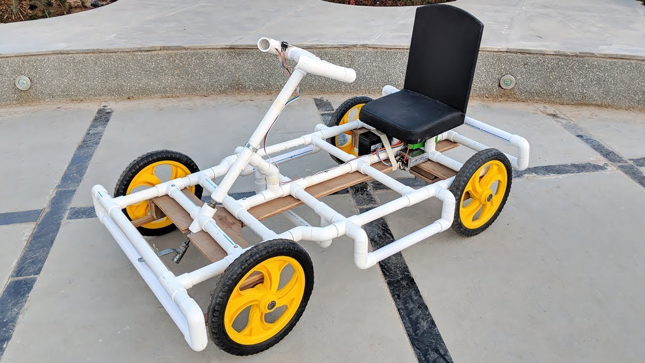 How To Make A Go Kart Electric Car Using Pvc Pipe At Home