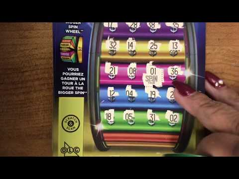 NEW!!! THE BIGGER SPIN, OLG, scratch tickets , 7 bigger spin tickets