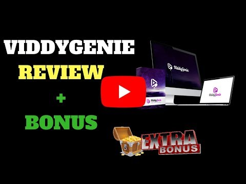 ViddyGenie Review, Demo and Viddygenie Bonuses-Video Creation & Ranking Software. http://bit.ly/2UmCSh6