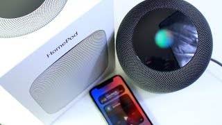 Apple HomePod Speaker Unboxing (Space Gray)