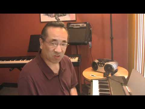Jazz Piano lesson #2 timing with Ron Kobayashi from the Music Factory OC