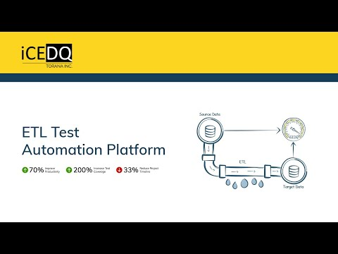 iCEDQ is a ETL Test Automation platform for Data Lakes & Data Warehouses.