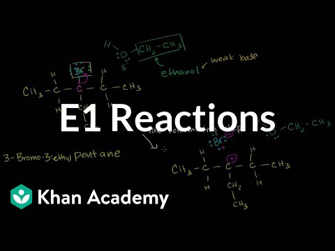E1 reactions | Substitution and elimination reactions | Organic chemistry | Khan Academy