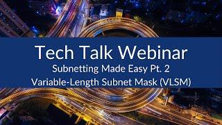 Subnetting كيف | Subnetting سهلة Pt. 2 - طول متغير قناع الشبكة الفرعية (VLSM)