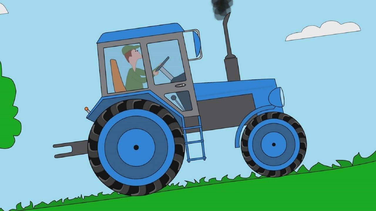 Мультфильм для детей про машинки - Пазл - Тракторы - Часть ...