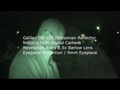 The moon galileo db 135 telescope & nikon d3100 camera youtube