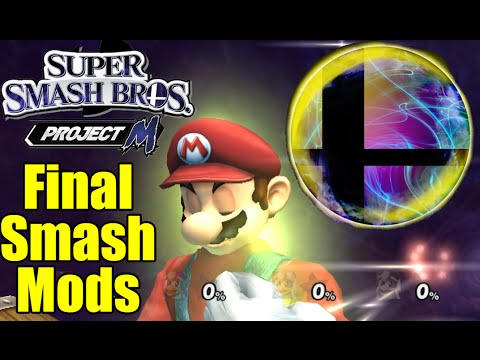 POWERFUL, DESTRUCTIVE, And CREATIVE Final Smashes Mods In Super Smash Bros Brawl/PM