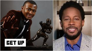 Desmond Howard reacts to WR DeVonta Smith's Heisman Trophy win & makes NFL comparisons | Get Up