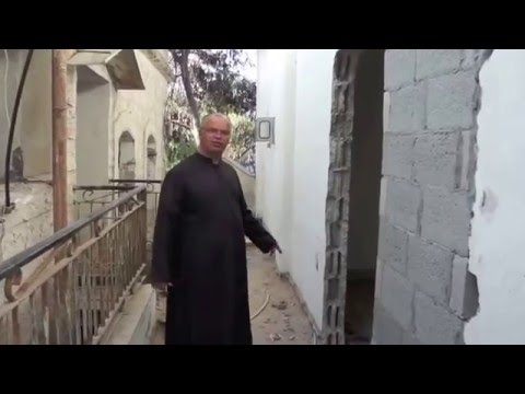 Rehabilitation of priest house, offices and hall, in Gaza. Work in progress Feb. 2016