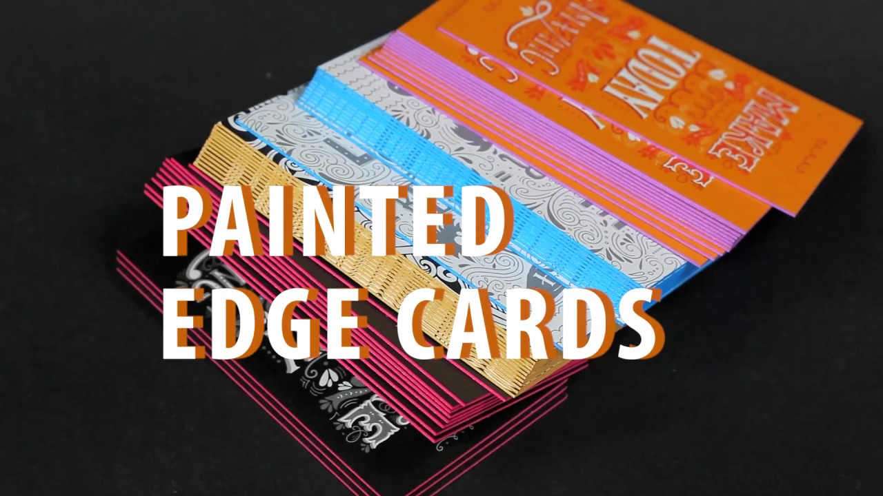 Painted EDGE Business Cards! - YouTube