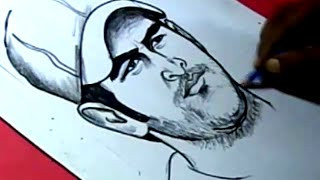 How to Draw INDIAN CRICKETOR DHONI DRAWING for kids