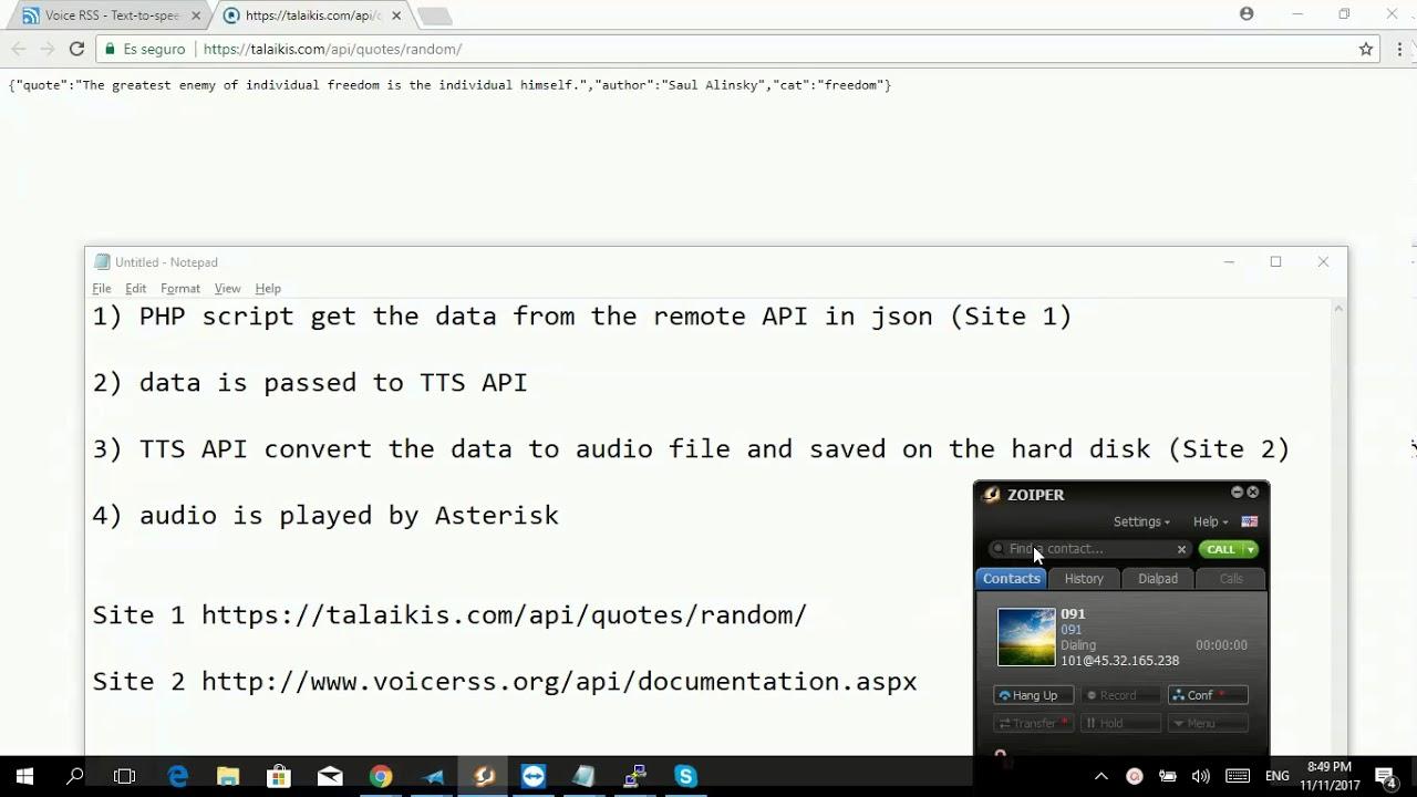 Asterisk TTS integration