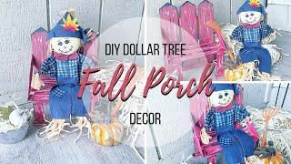 DIY DOLLAR TREE FALL PORCH DECOR
