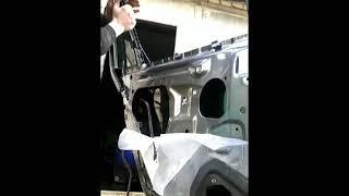 Как снять заменить стекла задней двери OPEL INSIGNIA demontaz szyby drzwi tyl!