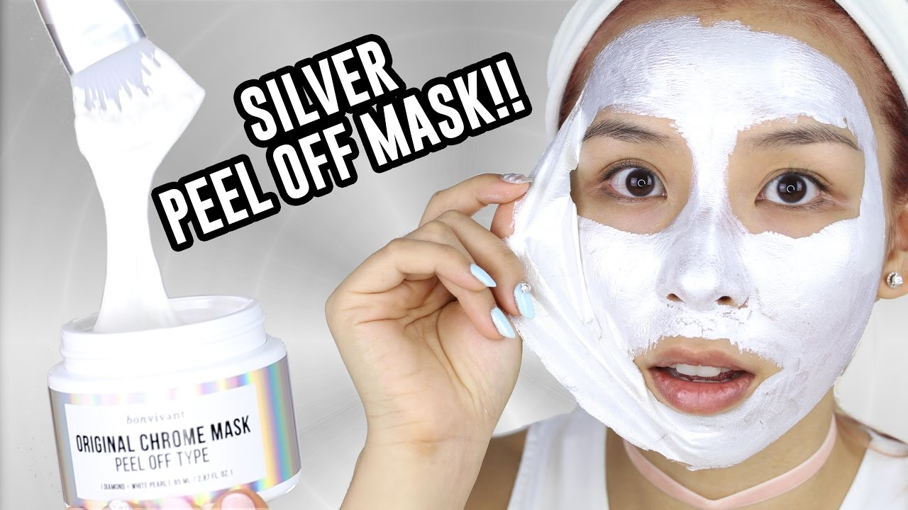 Silver Chrome Peel off Mask + GIVEAWAY! – TINA TRIES IT
