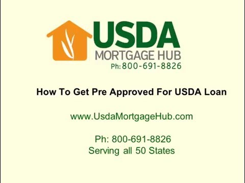 How To Get Pre Approved For USDA Loan