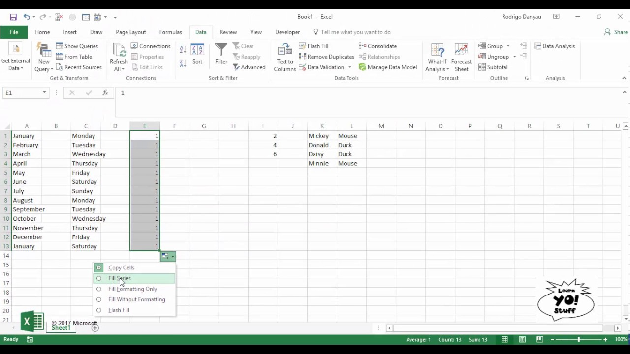 how to auto add in excel