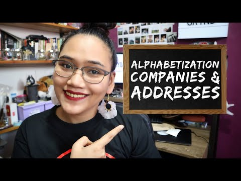Alphabetizing - Companies and Addresses Part 2 - Clerical Operations - Civil Service Review
