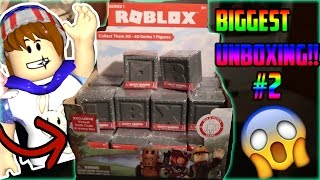 ROBLOX TOYS SURPRISE BLIND BOX MYSTERY TOY OPENING/UNBOXING PART TWO!! + FREE ROBLOX TOY CODES!