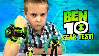 BEN 10 OMNITRIX Gear Test & Toys Review for Kids!