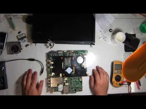 Ремонт ноутбука Asus X59SL мат F5SL с универсальной зарядкой