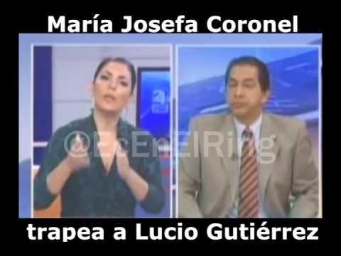 María Josefa Coronel humilla a Lucio Gutiérrez
