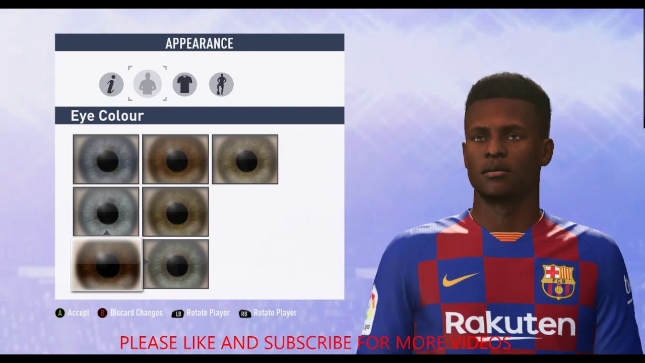 Tutorial How To Recreate Ansu Fati On Fifa 20 Fifa 19 Youtube