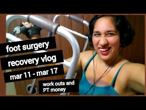 Foot Surgery Recovery Vlog #7 | Work Outs & PT Money [CC]