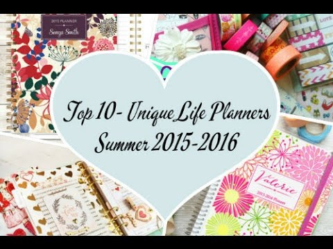 top 10 unique planners summer 2015 2016 youtube