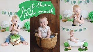 Тема джунглів торт розбити фотосесії декор для укладання за лаштунками дитячі фотографії