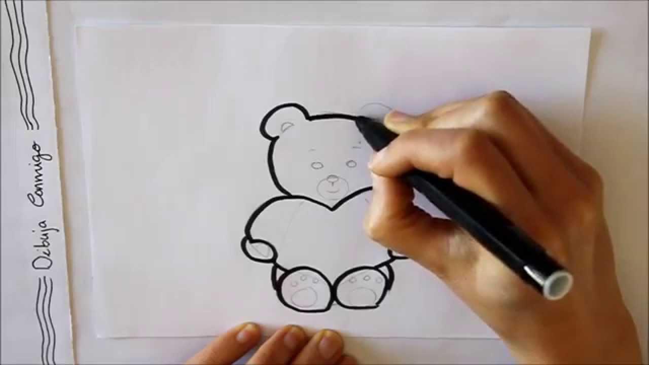 Cómo Dibujar Un Oso De Peluche Con Un Corazón Dibuja Conmigo Dibujos