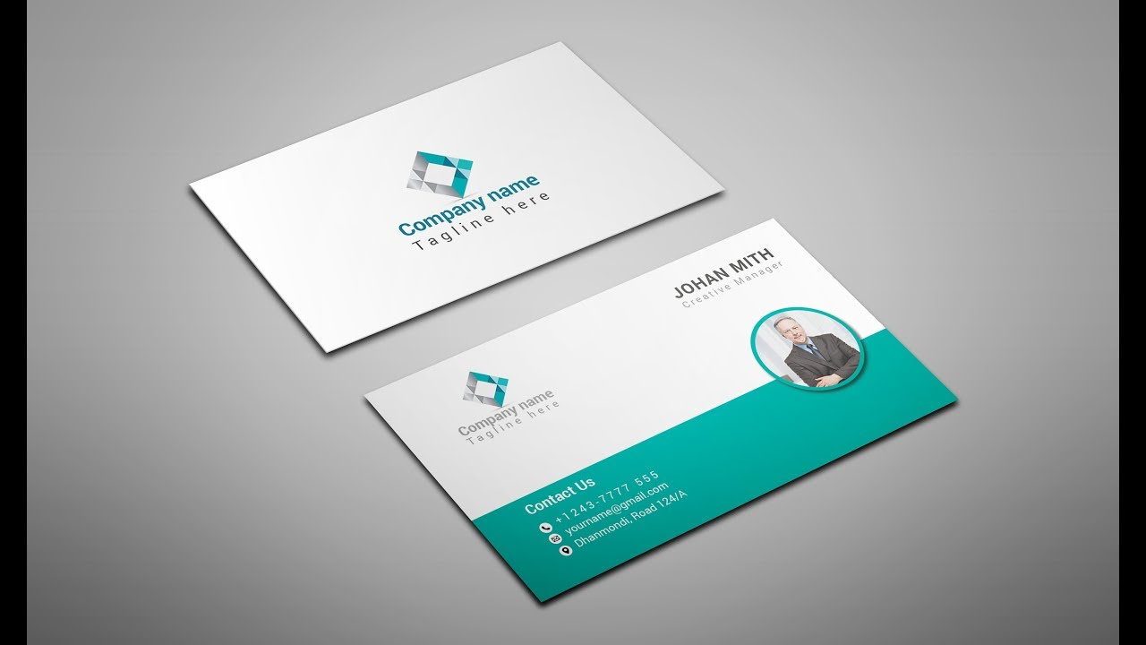 how to make a business card make easy business card font side