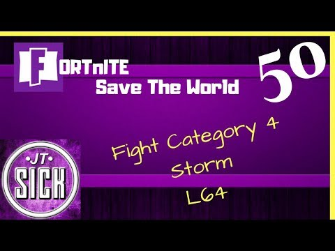 Fortnite: Gameplay Ep.50 - Fight Category 4 Storm, Lv 64