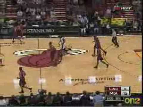 Joel Anthony 18 feet jumper     nice brick!!!! [lol] vs LAC 02-02-09