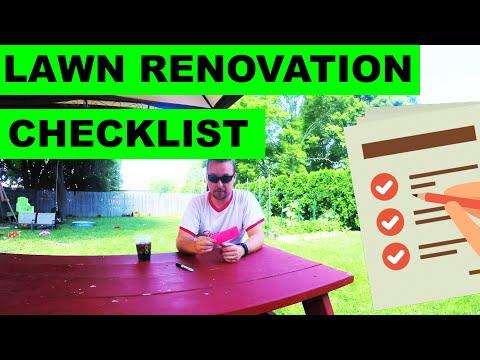 DIY Lawn Renovation Checklist