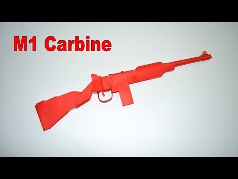 How to make a paper gun - M1 Carbine - DIY - paper toy - origami
