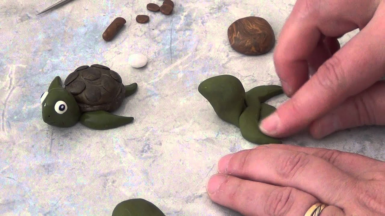 tuto fimo polymere tortue pour debutant idee creative